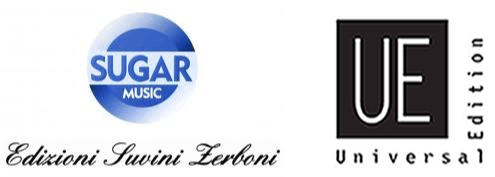 Logos of Suvini Zerboni and Universal Edition